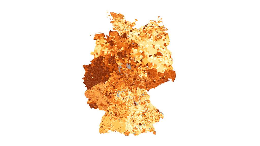 """Die Abbildung zeigt einen Screenshot der Anwendung """"Hebesätze der Gemeinden"""" (© Statistisches Bundesamt (Destatis))"""