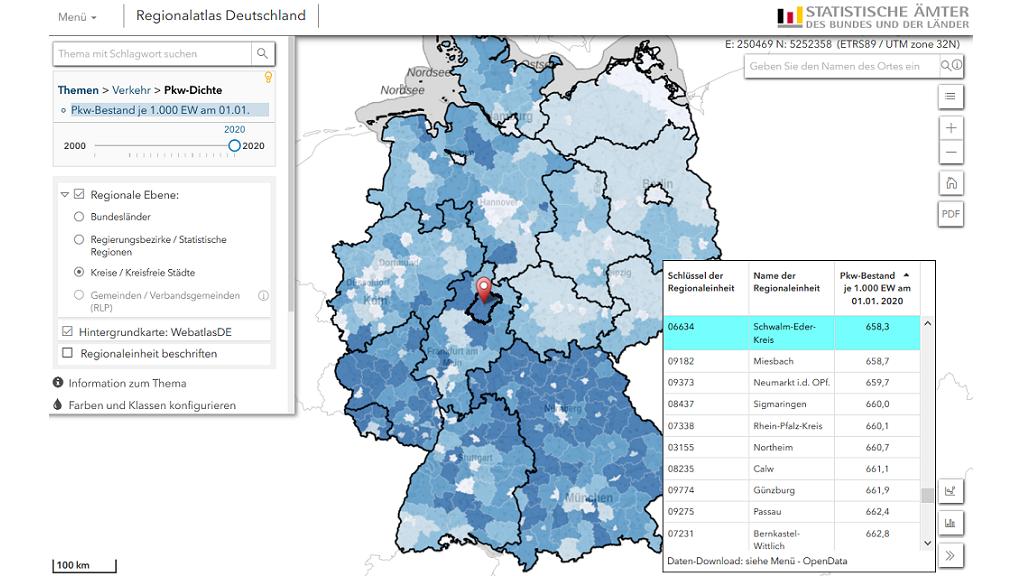 industriedichte deutschland karte Regionalatlas   Statistisches Bundesamt